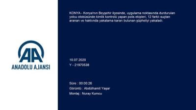 yakalama karari - Konya'da 12 suçtan aranan zanlı, polisin uygulama noktasında yakalandı