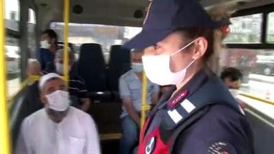 Maskeyi uygun şekilde takmayı reddedince ceza yedi