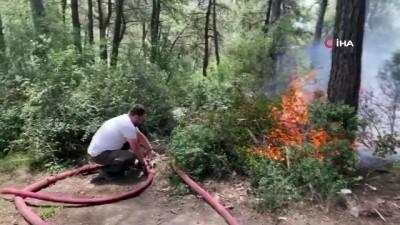 trol -  Sarıyer'de 500 metrekarelik alan alev alev yandı