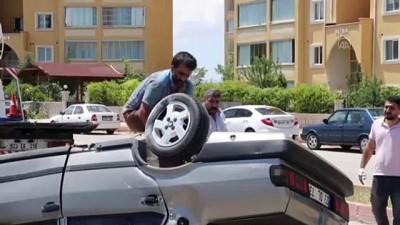 trol - Takla atan otomobildeki 2 kişi yaralandı - ELAZIĞ