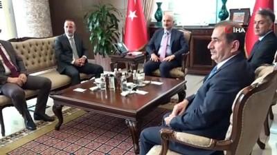Ulaştırma ve Altyapı Bakanı Adil Karaismailoğlu, Botan Köprüsü'nün yarın yapılacak açılışına katılmak üzere Bitlis'e geldi