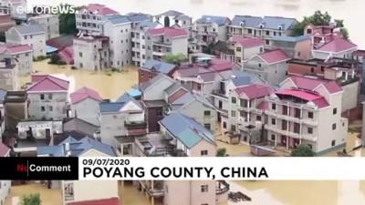 euro - Çin'de sel felaketinden yaklaşık 34 milyon insan etkilendi