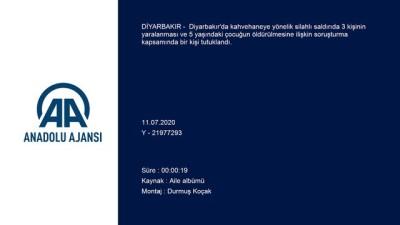 akalan - Diyarbakır'da çocuğun öldürülmesine ilişkin gözaltına alınan zanlı tutuklandı