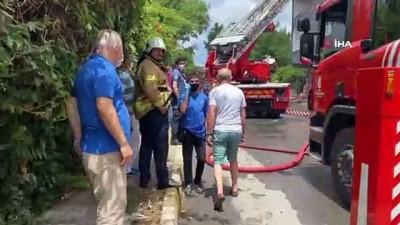 trol -  Göktürk'te bina çatısı alev alev yandı