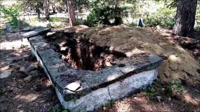 Mezarlıkta Define Aradılar - TEKİRDAĞ