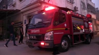 Adana'da aile sağlığı merkezinde yangın çıktı