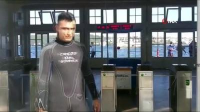 Beşiktaş'ta boğaza yüzmek için giren bir kişi boğularak can verdi