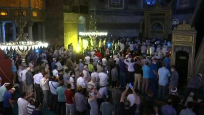 cuma namazi - Ayasofya-i Kebir Cami-i Şerifi'nde akşam namazı kılındı - İSTANBUL