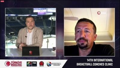 TBF Başkanı Hidayet Türkoğlu, 14. Uluslararası Basketbol Antrenör Semineri'ni başlattı
