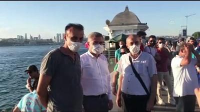 belediye baskani - Üsküdar Belediye Başkanı Türkmen'den vatandaşlara dondurma ikramı  - İSTANBUL