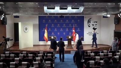 ispanya - Çavuşoğlu - Laya ortak basın toplantısı - ANKARA