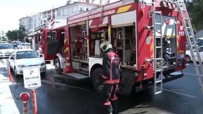 kurtarma operasyonu -  Yanan dairede mahsur kalan anne ve 3 çocuğu kurtarıldı