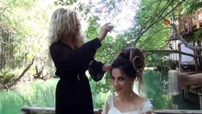 yaris -  Avrupa'yı sallayan kadın kuaför gelinleri doğada hazırlıyor