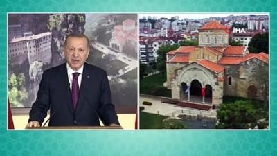 Cumhurbaşkanı Erdoğan, Sümela Manastırı ve Trabzon Ayasofya Camii'nin restorasyon sonrası açılış törenine katıldı