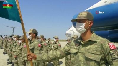 - Türk askeri Azerbaycan'da törenle karşılandı