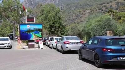 Muğla'nın turizm merkezlerinde bayram tatili yoğunluğu