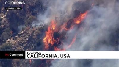 euronews - Video | Kaliforniya'daki Angeles Ulusal Parkı'nda yangın söndürme çalışmaları sürüyor