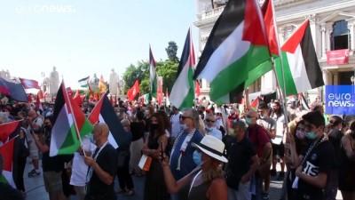 euro - İsrail'in Batı Şeria'daki ilhak planı ABD ve Avrupa ülkelerinde protesto edildi