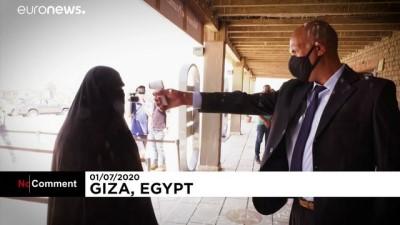 euro - Mısır'ın Giza Piramitleri, Covid-19 salgınında 3 ay kapalı kaldıktan sonra yeniden ziyarete açıldı
