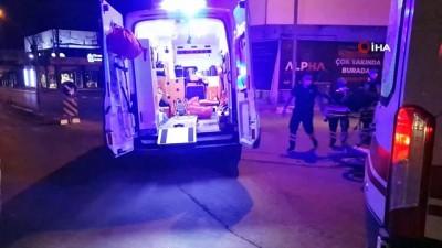 trafik kazasi -  Ciple çarpışan motosikletteki baba ve kızı yaralandı