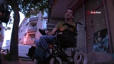 Hırsızlar engelli gencin arabasını parçalara ayırıp böyle çaldılar