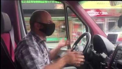 """Minibüs şoförü fazla yolcu aldı: """"İnşallah uygulama yoktur. Eğer varsa da arabayı anahtarla polise bırakıp gideceğim"""""""