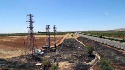 Anız yangını Nizip'te elektrik kesintisine neden oldu - GAZİANTEP