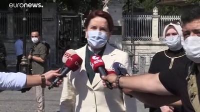 euro - İYİ Parti Genel Başkanı Akşener, Ayasofya-i Kebir Cami-i Şerifi'nde namaz kıldı