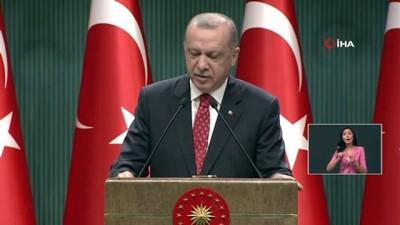 Cumhurbaşkanı Recep Tayyip Erdoğan, Cumhurbaşkanlığı Kabine Toplantısı sonrası açıklamalarda bulundu