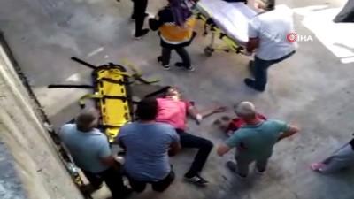 direksiyon -  Motosiklet sürücüsü 4 metre yükseklikten beton zemine çakıldı