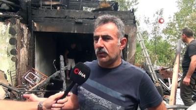 uttu -  Sinop'ta 2 katlı ev küle döndü