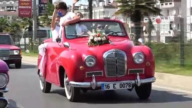 klasik otomobil -  En havalı düğün alayı
