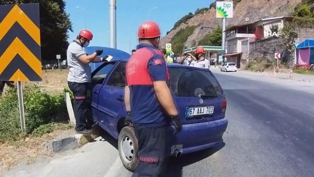 direksiyon -  Kaza yapan sürücü gözyaşlarına hakim olamadı