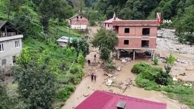 Selin yaşandığı Kaçkar köyü havadan görüntülenince felaketin boyutu ortaya çıktı