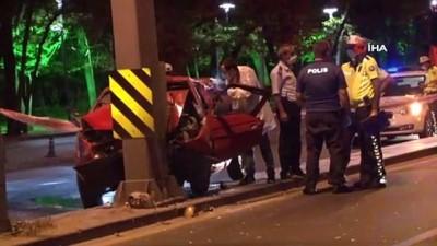 cenaze araci -  Ankara'da feci kaza: 1 ölü