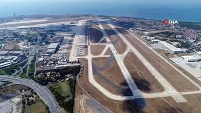sayilar -  Seferler başlayınca Atatürk Havalimanı pistinde park eden uçaklar azaldı