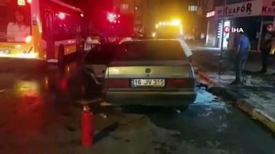 irak -  Seyir halindeki otomobil alevlere teslim oldu