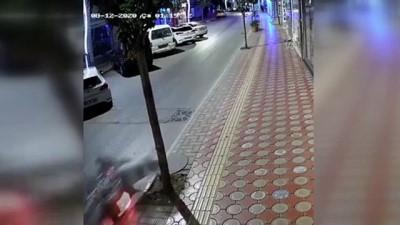 Motosiklet kazası güvenlik kamerasına yansıdı - SAMSUN