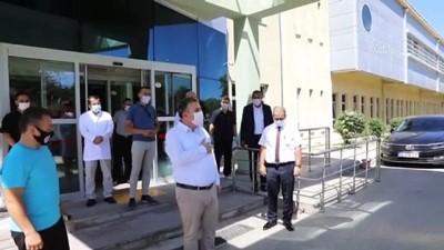 Kovid-19 tedavisi tamamlanan Çubuk Belediye Başkanı Demirbaş taburcu edildi - ANKARA