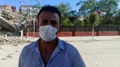 Malatya'da bina çöktü, vatandaşlar yaşanan o anları anlattı