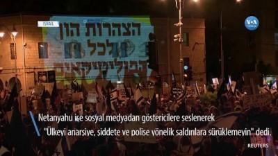 protesto - Binlerce İsrailli Netanyahu'yu Protesto Etmek İçin Sokaklardaydı