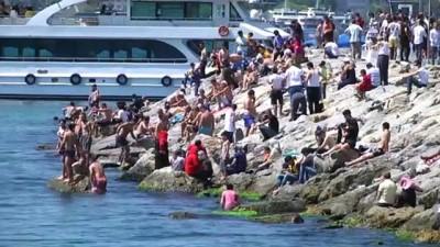 İstanbullular Kurban Bayramı'nın 3. gününde sahillere akın etti - İSTANBUL