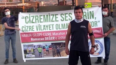 Spora dikkati çekmek için 50 kilometrelik yolu 6 saatte koştu - ŞIRNAK