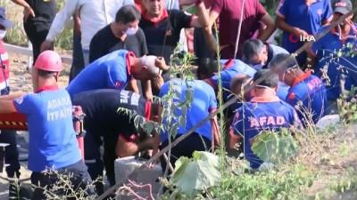 cenaze -  Adana'daki kuyu faciası...Karı kocanın cansız bedenleri morga kaldırıldı, 2 kişinin cansız bedenini çıkarma çalışmaları sürüyor