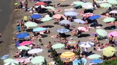 Sahillerinde bayram tatili yoğunluğu - ZONGULDAK