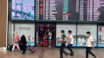 uttu - Tatilcilerin İstanbul'a dönüşleri sürüyor - İstanbul Havalimanı - İSTANBUL