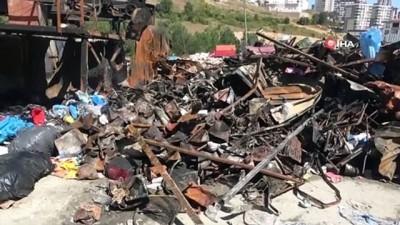 Yanan geri dönüşüm istasyonunda 300 bin TL zarar