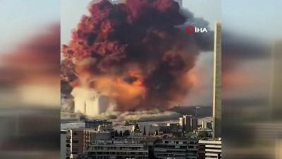 hukumet -  - Beyrut'ta havai fişek deposunda şiddetli patlama