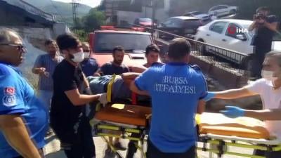 tahkikat -  Bursa'da 30 metrelik kayalıktan düşen genci itfaiye ekipleri kurtardı
