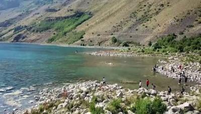 goller - Nemrut Krater Gölü yerli ve yabancı ziyaretçilerin akınına uğruyor - BİTLİS